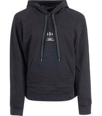 neil barrett logo print hoodie