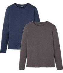 maglia a maniche lunghe (pacco da 2) slim fit (blu) - rainbow