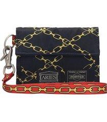 aries wallet in black nylon