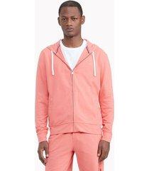 tommy hilfiger men's essential stretch pique cotton hoodie porcelain rose - xl