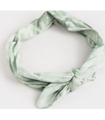 georgina tie dye bow headwrap - olive