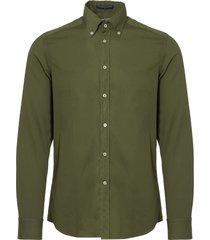 b.d baggies dexter button down shirt - green b17t18119