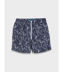pantaloneta de baño estampada para hombre 08813