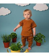bawełniane spodnie wiosna/lato - cynamon