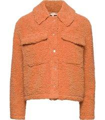 wendy jacket outerwear faux fur orange soft rebels