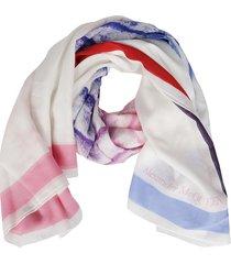 alexander mcqueen multicolor silk scarf