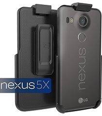 google nexus 5x spring clip belt holster - case free design (encased lifetime gu
