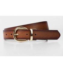 cinturón doble faz de cuero para mujer vintage