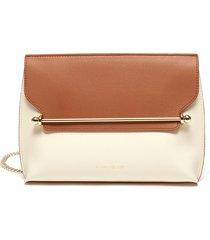 'east/west' bicolour leather pouch