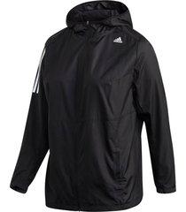löparjacka own the run hooded wind jacket plus