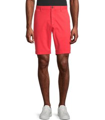 solid stretch-cotton shorts