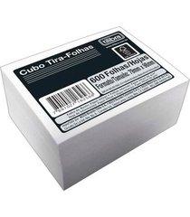 bloco de anotações tilibra cubo branco com 600 folhas 89x98mm