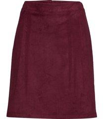 skirts woven knälång kjol röd esprit casual