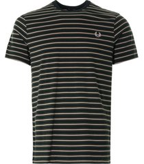 fred perry fine stripe t-shirt | hunting green | m1608-408