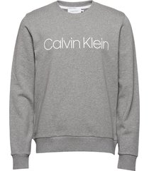 cotton logo sweatshi sweat-shirt trui grijs calvin klein