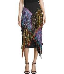 love potion fringe pencil skirt