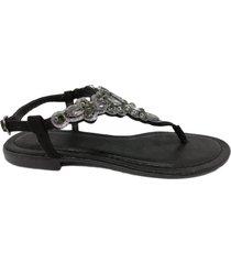 sandalia negra abryl calzados lnk