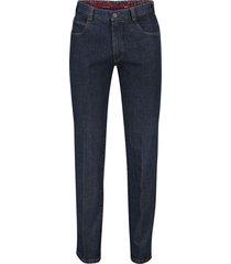 meyer jeans diego donkerblauw stretch