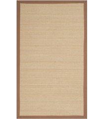 safavieh natural fiber multi and light brown 3' x 5' sisal weave rug