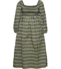aquina knälång klänning gul baum und pferdgarten