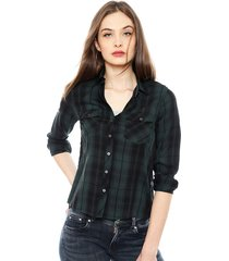 blusa pepe jeans ml verde - calce regular