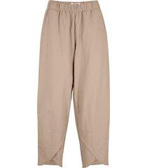 pantaloni in misto lino loose fit (marrone) - bpc bonprix collection