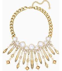 collana odysseia, multicolore, placcato oro