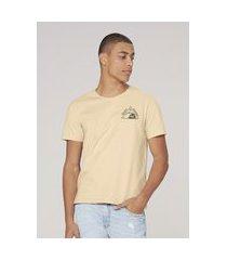 camiseta masculina super cotton com estampa - amarelo