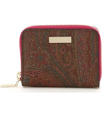 etro small zip around wallet paisley