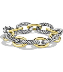david yurman oval extra large link bracelet with gold, size 8.75 in in two tone at nordstrom