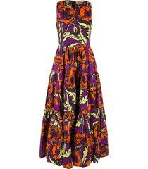 la doublej popeline cotton sleeveless big dress