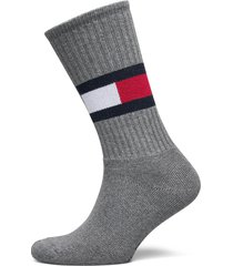 th flag 1p underwear socks regular socks grå tommy hilfiger