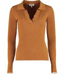 baum und pferdgarten ceara ribbed knit polo shirt