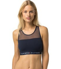 tommy hilfiger women's tommy cotton bralette navy blazer - s