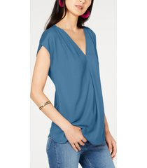 inc inverted-pleat v-neck top, created for macy's