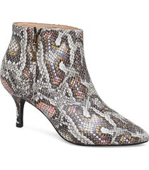 agnete snake shoes boots ankle boots ankle boots with heel multi/mönstrad shoe the bear