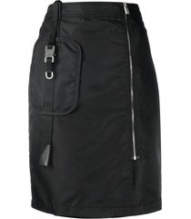 1017 alyx 9sm high-waisted zip-up skirt - black