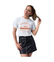 camiseta basica my t-shirt california 1850 branco