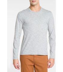 camiseta masculina mg longa cinza mescla - ggg