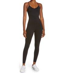 puma x goop training bodysuit, size x-large in puma black at nordstrom