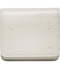maison margiela logo leather wallet micro clutch bag