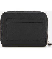 dsquared2 men's dylan saffiano leather zip wallet - black
