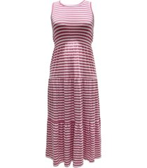 style & co petite striped maxi dress, created for macy's