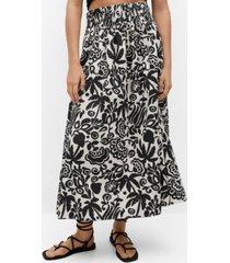 mango women's ruched details skirt