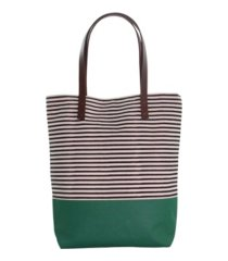 cb station seaport stripes dipped tote