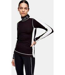 *black jersey layering ski top by topshop sno - black