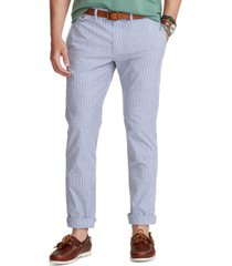 polo ralph lauren men's classic-fit seersucker pants