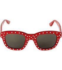 48mm studded square sunglasses