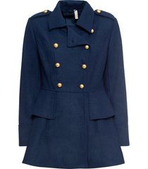 cappotto corto stile militare in misto lana (blu) - bodyflirt boutique