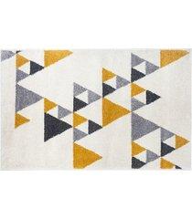 dywan dekoracyjny triangles yellow 120x170
